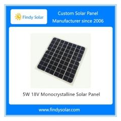 5W 18V Solar Panel Frameless