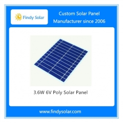 6V 3.6W Poly Solar Panel Frameless