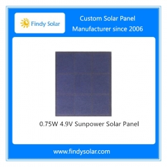 0.75W Sunpower Solar Panel 4.9V
