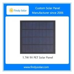1.7W 9V PET Solar Panel