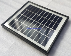 black small photovoltaic panel