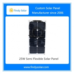 25W Semi Flexible Solar Panel