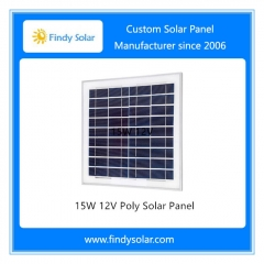 15W 12V Poly Solar Panel