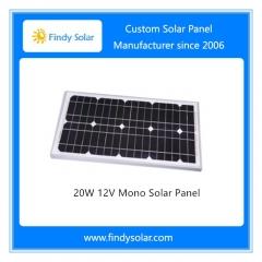 20W 12V Monocrystalline Solar Panel