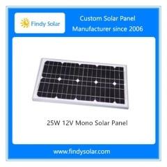 25W 12V Mono Solar Panel