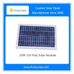 25W 12V Poly Solar Panel