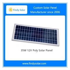 35W 12V Poly Solar Panel