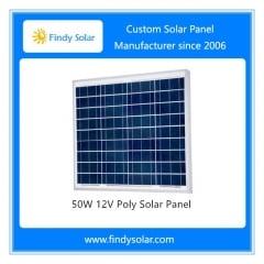 50W 18V Poly Solar Panel