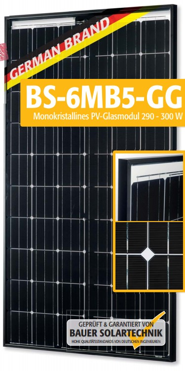 Bauer Solarenergie Bs 6mb5 Gg Pl Perc 290 300w Solar Panel Datasheet Enf Panel Directory