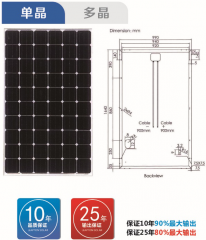 60pcs Monocrystalline Modules Series