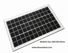 6W solar panel 140×245×4mm 6