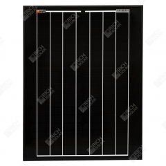 RICH SOLAR 20 Watt 12 Volt Monocrystalline All Black Solar Panel 20