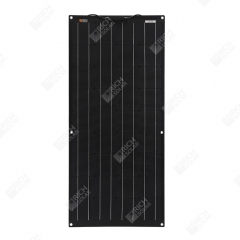 RICH SOLAR 100 Watt 12 Volt ETFE Flexible Monocrystalline Solar Panel All Black 100