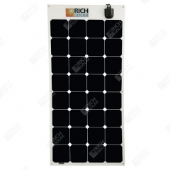 RICH SOLAR 100 Watt 12 Volt Flexible Solar Panel Powered By SUNPOWER With Amphenol Junctio 100