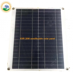 20W PET laminate semiflexible solar panel