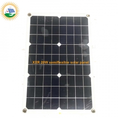 hotselling 20W PET laminate semi flexible solar panel