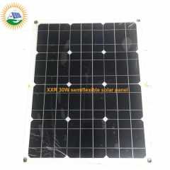 solar panel factory supplying 30W semiflexible solar panel