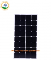 130W 36 cells sunpower solar panel flexible