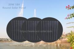 20W Solar Panel, Round Solar Panel
