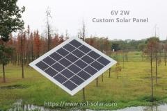 Custom Solar Panel , 6V 2W
