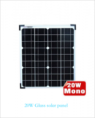 20w Glass solar panel