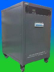 Movable cabinet with solar inverter/controller and battery