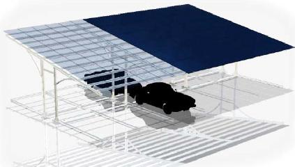 Solar Carport - Double Rows (EW-Side)