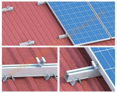 Trapezoid Metallic roof system-Tiled