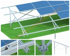 Aluminum ground mounting system- Horizontal modules