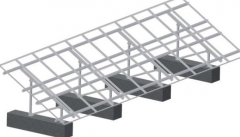 Dual-Post Steel & Al Alloy Ground Mounting System