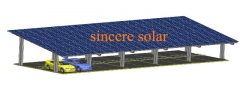 Double Rows Double pole Solar Carport Mounting System