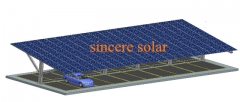 Double Rows Single pole Solar Carport Mounting System