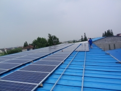 Roof Solar Mounting Structure For Sheet Metal Roof