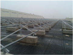 Concrete Foundation Flat Roof Mount