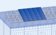 Folding Plate Roof PV Stand