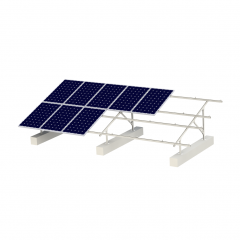 Ground solar mounting rack