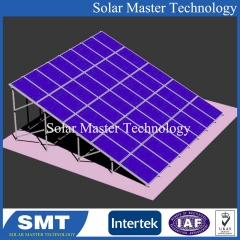 Solar Panel Pole Ground Mounting Structure