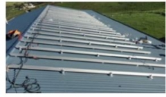 Pitched Tin Roof Solar Racking System