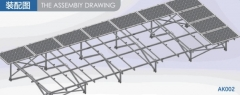 Four-row aluminum rack