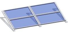 Flat roof-C profile triangle kit