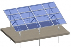 Aluminum ground mounting system-panel fixed beneth