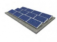 Roof Ballasted Solar Panel Racking Structure