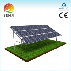 Hilly area PV solar mounting system