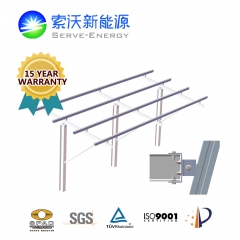 Driven Pile Aluminum Ground PV Mounting System