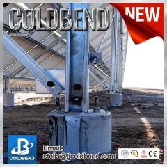 Large ground cement based braket system
