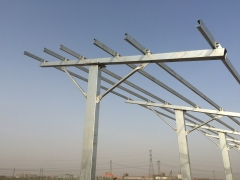 large ground H pile braket system