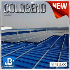 Color steel tile photovoltaic  roof bracket system