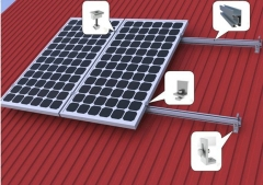 Metal roof solar system mounting