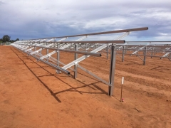 Pile Driven Solar Ground Structure System