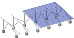 Aluminum Ground Mounting System-Railless